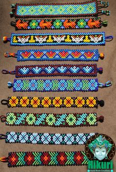 HUICHOL BRACELET huichol tribe mexico mexican by Hikuricreations