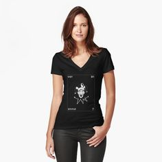 'Occult Fashion Wear Official Design' Fitted V-Neck T-Shirt by Graphic T Shirts, My T Shirt, V Neck T Shirt, Dark Flower, Flower Dog, Fashion Art, Space Fashion, Fashion Decor, Woman Fashion