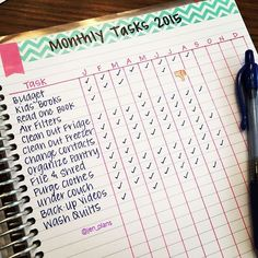 How do you keep track of monthly tasks? I use the notes pages in the back of my eclifeplanner!