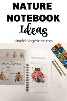 Get nature notebook ideas for your homeschool! The nature notebook is an important part of nature study, so youll want a nature journal for your kids! Journal Prompts For Kids, Study Journal, Nature Journal, Journal Ideas, Journal Inspiration, Diy Nature, Nature Study, Journal Vintage, Life Science