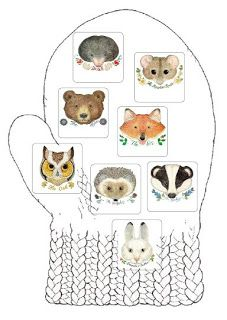 The Mitten Game This is a lotto type game that can be played by picking u… - Todo sobre el jardín de infantes Preschool Literacy, Preschool Books, Literacy Activities, Winter Activities, In Kindergarten, Preschool Activities, Preschool Winter, Winter Fun, Winter Theme