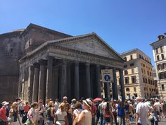 So many people around the Pantheon.