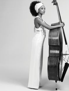 Lady Liberty, singer, songwriter, bassist, and bandleader Esperanza Spalding for LA Times Magazine photographed by Matt Jones