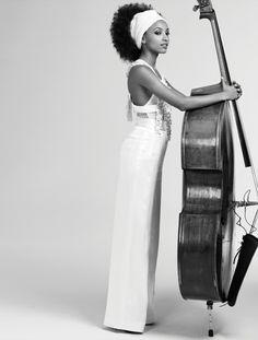 Lady Liberty, singer, songwriter, bassist, and bandleader Esperanza Spalding for LA Times Magazine photographed by Matt Jones