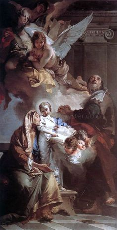 Education of the Virgin by Giovanni Battista Tiepolo - Hand Painted Oil Painting What's Art Baroque Painting, Baroque Art, Catholic Art, Religious Art, Religious Paintings, Rennaissance Art, Symbolic Art, Biblical Art, Renaissance Paintings
