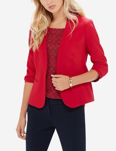 Lapel-Less Hook Front Blazer | Women's Jackets & Blazers | THE LIMITED