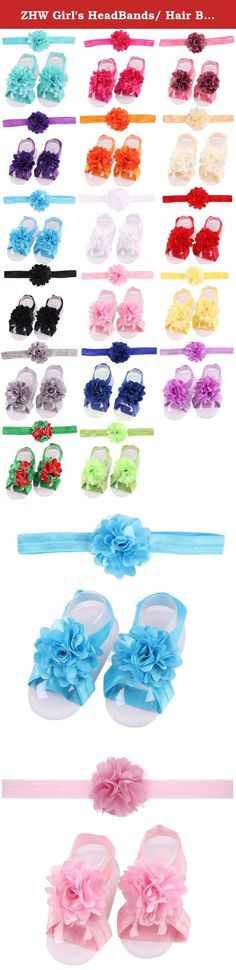 ZHW Girl's HeadBands/ Hair Bows and Barefoot Sandals Flower 10 Sets. The headbands can not only make full complete baby appear outfit, more can show the outline of baby face good, let the baby looks more nifty and lovely.