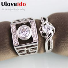 Find More Rings Information about Bague En or Mariage Silver Plated Wedding Jewelry Rings for Women and Men Engagement Crystal Band Couple Rings Vintage JX005,High Quality ring plate,China ring lock Suppliers, Cheap ring candy from D&C Fashion Jewelry Buy to Get a Free Gift on Aliexpress.com