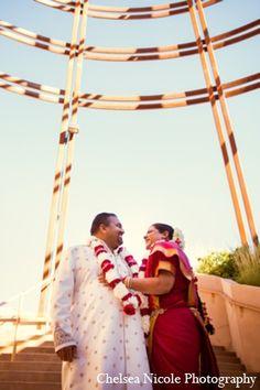 indian wedding portrait photography red gold bride groom http://maharaniweddings.com/gallery/photo/4625