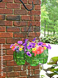 Ball Jars Flower Planter/Chandelier