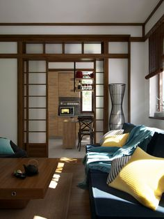 """Picture from """"Nihon no Kanji"""" - project by interiordelight. A Japanese inspired home Nihon, Design Projects, Japanese, Inspired, Interior Design, Room, Inspiration, Furniture, Home Decor"""