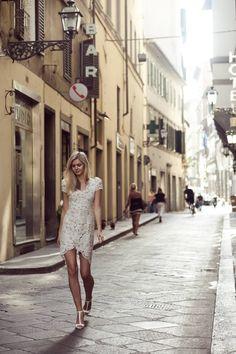 Wearing: Lover dress, Zara heels, Gorjana & Jacquie Aiche rings.