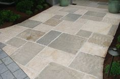 Stone Landscape – Marly Limestone Paving - Rustic Finish Chipped Edges