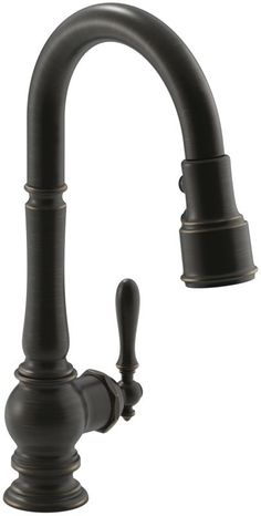 "Kohler K-99261 Artifacts Pullout Spray High-Arch 16"" Kitchen Faucet with ProMoti Oil Rubbed Bronze (2BZ) Faucet Kitchen Single Handle"