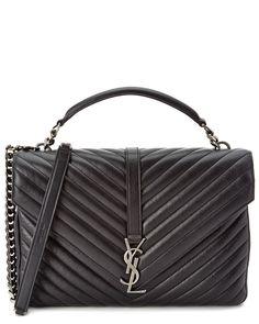 Saint Laurent Classic Large College Monogram Matelassé Leather Shoulder Bag is on Rue. Shop it now.