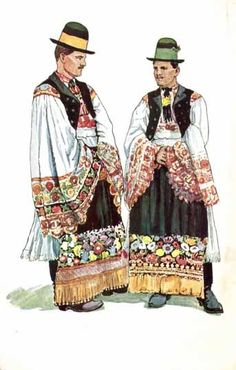 Hungarian traditional regional costumes for men
