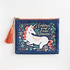 Unicorn Canvas Pouch