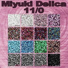 Täydensimme Miyuki Delica 11/0 siemenhelmet. Osa väreistä meillä on ollut jo kaupassa ja mukana on ihan uusia värejä. Matta musta on taas saatavilla ja kauppaan tuli Miyuki Delica, jossa on upea tsekkiläinen pintakäsittely (Magic viinin punainen). Tuli