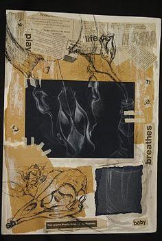 Sketchbook / work journal skull page