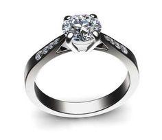 Bague Solitaire Diamant Merveille Or Blanc 18K - Bague-fiancailles.com