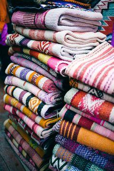 Peruvian Fabrics in Cusco, Peru