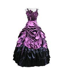 Partiss Damen ärmellose Kleid gotische viktorianische Lolita Ballkleid Ruffles Abendkleid(XXL,Purple) Partiss http://www.amazon.de/dp/B00EC138RU/ref=cm_sw_r_pi_dp_OCy9ub0Q3XB40
