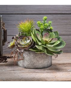 Succulent Obsession Artificial Foliage Planter at Petals Office Scapes Direct Hanging Succulents, Artificial Succulents, Succulents In Containers, Cacti And Succulents, Succulent Landscaping, Succulent Gardening, Succulent Terrarium, Organic Gardening, Succulent Centerpieces