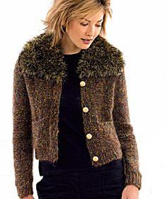 Downloadable Knit Pattern: April in Paris Cardigan  http://www.lionbrand.com/patterns/40595AD.html