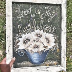 This has been my song since I was a teenager, and everyday I see what Thy Hand has provided! Great is your faithfulness! Great Is Your Faithfulness, T Art, Me Me Me Song, Farmhouse Decor, Art Pieces, Songs, Photo And Video, Videos, Artist
