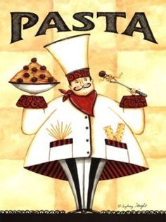 Chef Pasta Poster Print by Sydney Wright