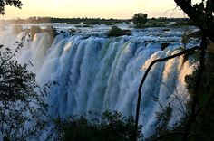 Victoria Falls bordering Zimbabwe and Zambia in Africa   27 Surreal Places To Visit Before You Die