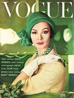 Wilhemena Cooper on the cover of Vogue 1961