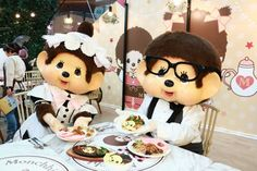 Monchhichi Pop-up Café Pop Up Cafe, Mickey Mouse, Disney Characters, Baby Mouse