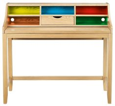 The Loft Desk Reborn from John Lewis is a contemporary take on their best selling traditional loft style desk with coloured compartments that will encourage them to organise all that clutter.