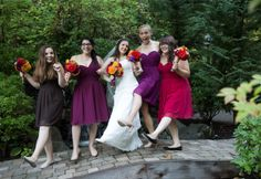 Love different color bridesmaids!