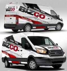 IT Technology company Ford Transit Partial Van Wrap Vehicle Signage, Vehicle Branding, Van Signage, Fiat Ducato, Van Wrap, Small Trucks, Car Advertising, Transporter, Ford Transit