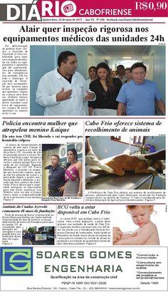Confira a edição do DIÁRIO CABOFRIENSE de quinta-feira, 28 de maio.  Telma Flora | editora chefe <3