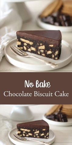 No Bake Chocolate Biscuit Cake Recipe This no bake Chocolate biscuit cake is one of the easiest cakes to make, doesn't require an oven but still is so delicious. Fun Baking Recipes, Delicious Cake Recipes, Easy Cake Recipes, Yummy Cakes, Cookie Recipes, No Oven Recipes, Cake Recipes Without Oven, Delicious Food, No Bake Chocolate Cake