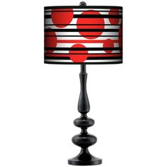 Red Balls Giclee Paley Black Table Lamp  Style # N5714-P9102/$99.99