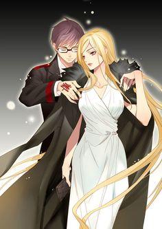 Kazuma and Bishamon // Noragami