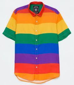 Quirky Fashion, Retro Fashion, Sweater Shirt, Shirt Jacket, Rainbow Outfit, Cool Outfits, Fashion Outfits, Tumblr Outfits, Future Fashion