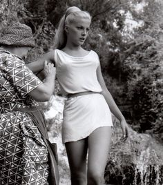 Virna Lisi on the set of Duel Of Titans (1960)