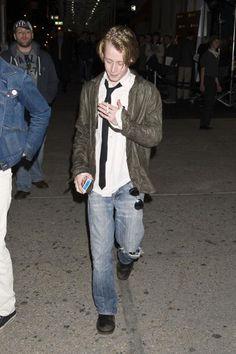 Macaulay Culkin sighting at Sunglass Hut store on April 28 2010 in New York City