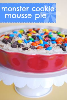 Making the World Cuter-Monster Cookie Mousse Pie #somethingswanky