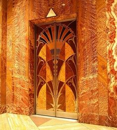 Here is an elevator door from the Chrysler Building (built 1929-1930), monument of Art Deco architecture: