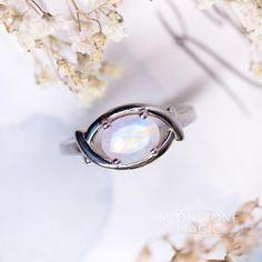 Moonstone Ring - Gleaming Vision