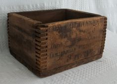 Antique wooden crate.  THIS is what things used to get shipped in :-)