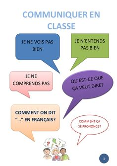 Phrases pour communiquer en classe en français