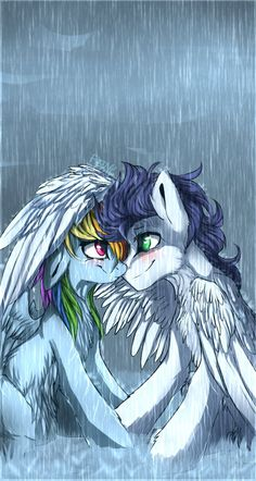 (Open RP I'm Rainbow Dash) I smile at him. I don't even know how he found me. I'm just staring at him and he's smiling