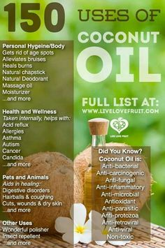 150 uses for coconut oil